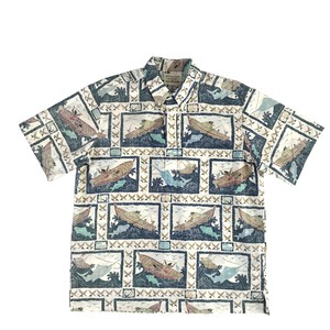 USEDアロハシャツ レインスプーナー /  size XL  /  made in Hawaii
