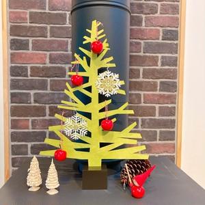 アルペンツリーL クリスマスディスプレイ 木製 組み立て式 kameyama candle ライムグリーン