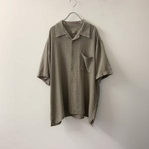 NATURAL ISSUE オープンカラーシャツ カーキ系 ビスコース/ポリエステル size L メンズ 古着