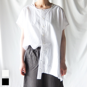 (g) グラム - コットンボタンシャツ - White / Black