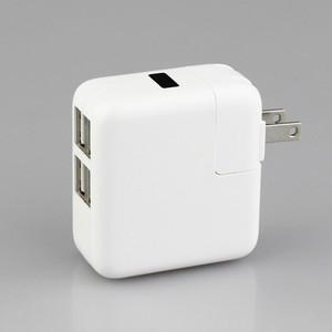 【送料無料】4ポート電源コンセントアダプタ 4台同時に充電可能。 iPhone、Android、ゲームなど様々な機器に対応 スマホの充電とゲームを同時に