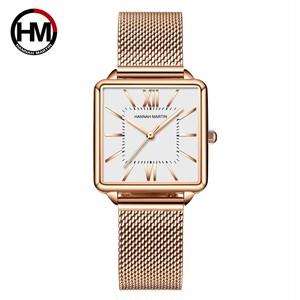 日本クォーツムーダイヤルローマ広場の時計ケースstanless鋼ファッション腕時計レディースローズゴールドは、女性の1082BWFF