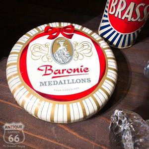 【送料込】Baronie Medaillons オランダ製 チョコレート ヴィンテージ缶 アドバタイジング 海外雑貨【E-023-010】