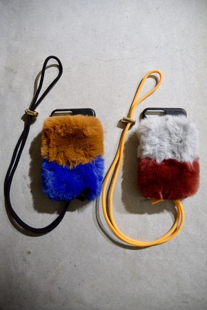 【A scene】2-layer fur case 7plus/8plus共通