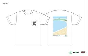猪苗代野外音楽堂MEETAGAIN 天神浜快晴Tシャツ(MA-01)