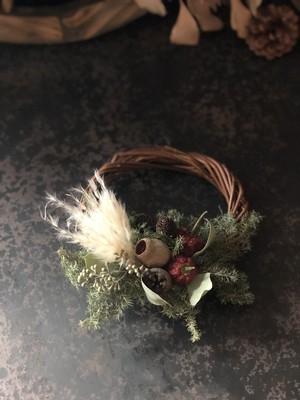 ドライフラワーミニリース クリスマス