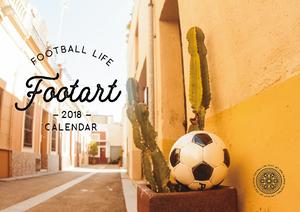 FOOTARTカレンダー2018  5部セット