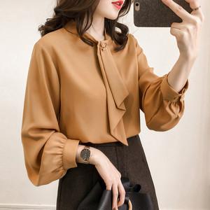 【トップス】新品通勤/OLファッション無地長袖ブラウス・シャツ 16506149