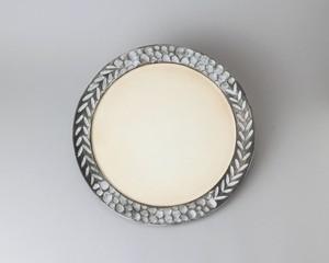 リム皿8寸(約24cm) - 黒 | 小鯖美保子