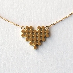 Hex/ Heart Tile necklace