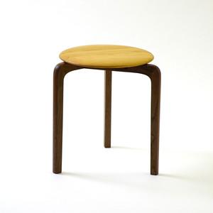 LISCIO スタックスツール(wood) (座面:チェリー, 脚:ウォールナット)