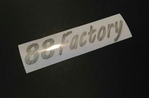 88Factory Shopデカール 切り文字 シルバーカーボンカラー