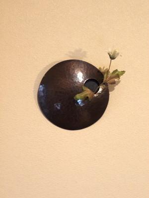 まあるい銅製花器(一輪挿し)