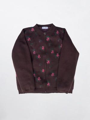 TTT_MSW Flower Knit Polo Brown TTT-2020AW-KT02