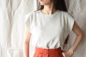 【FILL THE BILL】《WOMENS》 NO SLEEVE THERMAL - COLLOR HEATHER