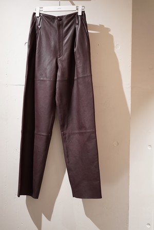 pelleq / SHEEP LEATHER TROUSERS(DEEP BROWN)