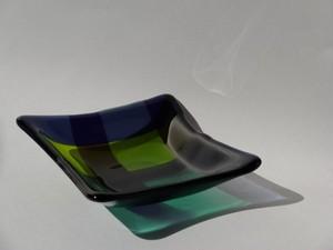 ガラスプレート(TARTAN GREEN)