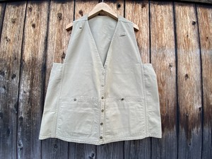 old handmade cotton duck vest