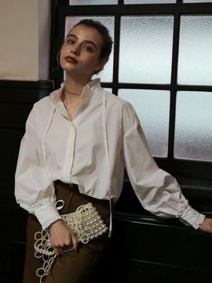 frill tunic shirt(white)
