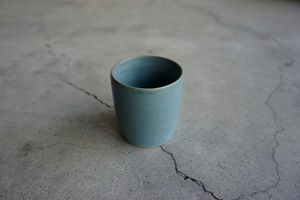 眞砂 眞砂子 フリーカップ ブルーグリーン