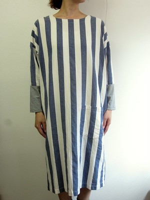 NAPRON (ナプロン) 【 WORDROBE ワードローブ】  COVERING WEAR -NAVY  STRIPE-
