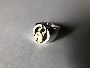 Zodiac ring  silver × K18