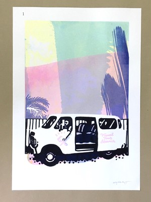 ' Visual Shuttle Service ' Limited screen printed poster