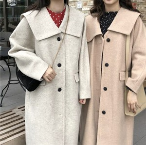 全2色♡ 大きめ襟のロングコート♡