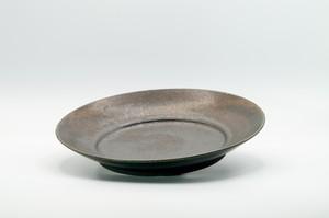 鉄黒釉パスタ皿
