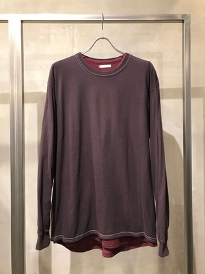 TrAnsference loose fit long sleeve T-shirt - dark plum