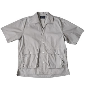 TYPEWRITER CLOTH OPEN COLLAR PORTER SHIRT GREY