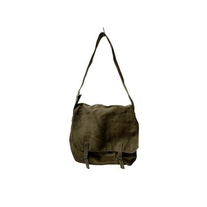 """[DEADSTOCK] 50-60's """"FRENCH ARMY"""" LINEN CANVAS SHOULDER BAG"""