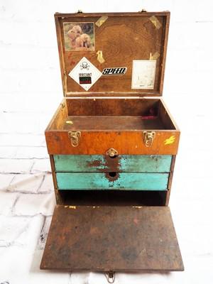 品番5023 木製 ディスプレイボックス サンプルボックス 無垢 ヴィンテージ