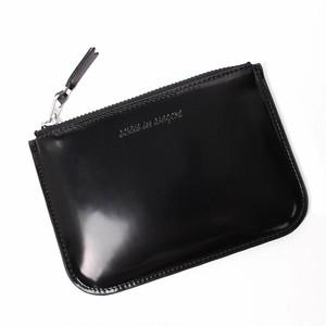 COMME des GARCONS (コムデギャルソン) MIRROR INSIDE-SILVER コインケース カードケース コンパクト財布 ポーチ 財布 SA8100MI ブラック BLACK シルバー ロゴ ユニセックス[全国送料無料] r015076