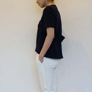 Half Sleeve Flair Tops / NAVY