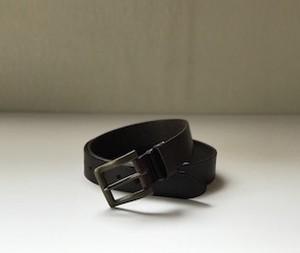 栃木レザーベルト アンティークゴールド真鍮バックルモデル(ブラウン)