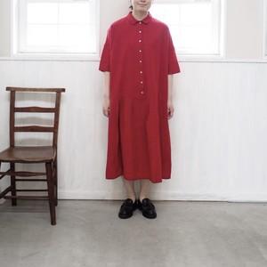2019年5月末入荷予定 【YAMMA 】会津木綿襟付きウエスト切り替えワンピース ヤンマ産業
