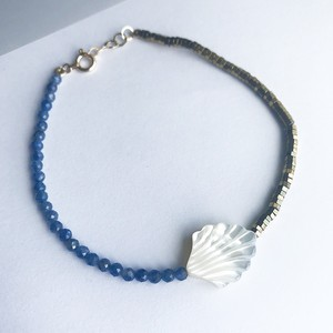 Mother of Pearl x Sapphire x Pyrite Bracelet / チャリティージュエリー