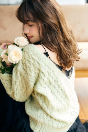 Mohair-blend Knit Pullover