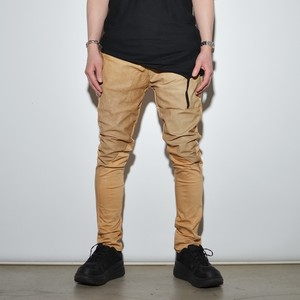 """Leather×Cotton """"Skinny""""Pants〈Nude Beige〉"""