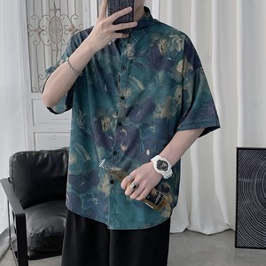 マーブル模様アロハシャツ