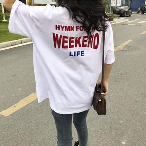 【トップス】シンプルアルファベットTシャツ