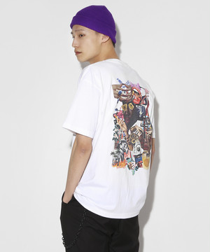 9th anniversary Special Graphic Collage T-shirt [White]