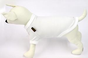 犬用Tシャツ 白カノコ(S.M.L.LL)税込