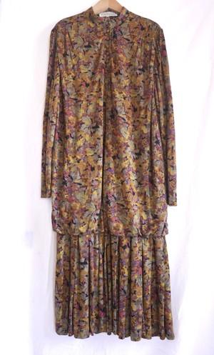 French grape Print Dress