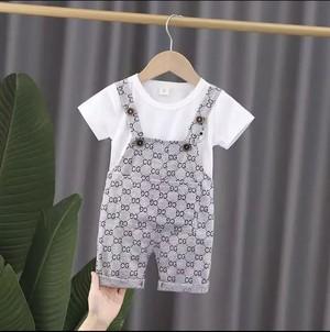 CG柄オーバーオール+Tシャツ  韓国子供服