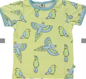 smafolk 鳥柄半袖シャツ 黄色