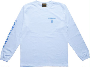 【HELLOWPRESSURE L/S tee】white/blue
