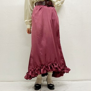 (LOOK) fishtail frill skirt