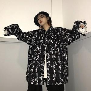 【トップス】ファッションシングルブレストPOLOネック長袖シャツ24133020